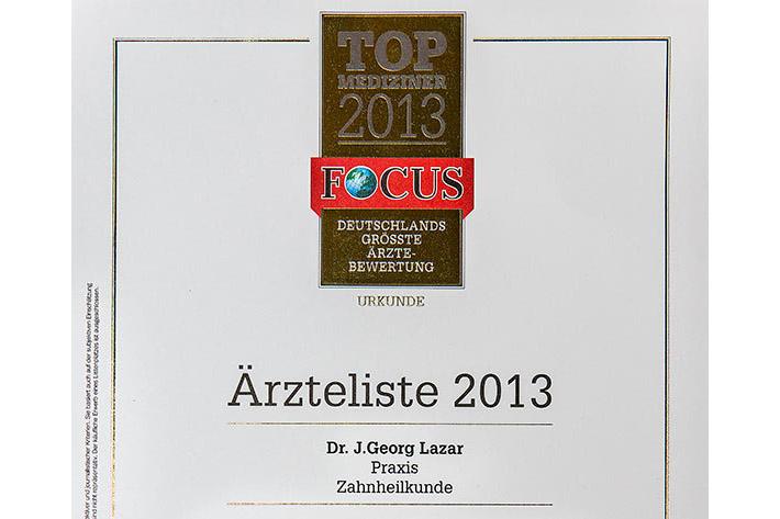 Erneut unter den Top 10 in Deutschland: Dr. Lazar aus Buchholz